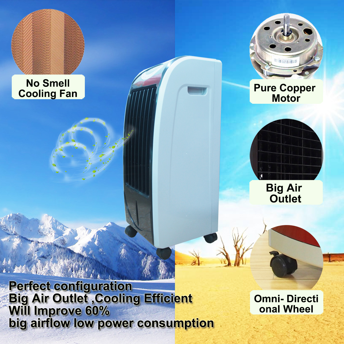 Charge Air Cooler Ice Box : Portable air cooler with ice box water